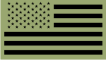 FORWARD USA BLACK ON OD GREEN PCX PATCH