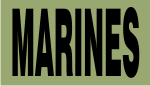 MARINES BLACK ON OD GREEN PCX PATCH