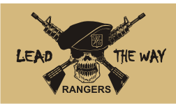 RANGERS LEAD THE WAY BLACK ON TAN PCX PATCH