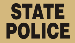 STATE POLICE BLACK ON TAN PCX PATCH