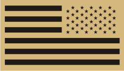 USA RIGHT BLACK ON TAN PCX PATCH