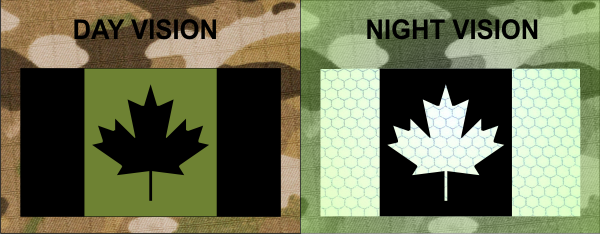 CANADA IR FLAG PATCH OD GREEN ON MB SOLASX SX1100
