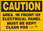CAUTION AREA IN FRONT OF ELECTRICAL PANEL.png (12913 bytes)