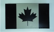 "CANADA 3.5"" X 2"" IR MAGIC BLACK ON TAN"
