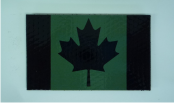 "CANADA IR MAGIC BLACK ON OD GREEN 3 1/2"" X 2"""