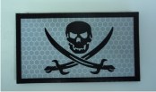 CALICO JACK PIRATE CARBON BLACK PATCH