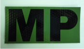 "MP 4 1/4"" x 2 1/8"" ir magic black on od green"