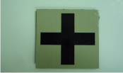 MEDIC CROSS 2X2 MAGIC BLACK ON TAN