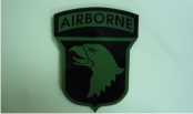 AIRBORNE OD GREEN ON MAGIC BLACK