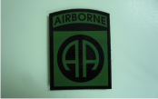 "AIRBORNE 2 1/2"" 3 3/8"" OD GREEN ON MAGIC BLACK"