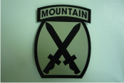 "10TH MOUNTAIN 2 5/8"" X 3 1/2""  IR TAN ON MAGIC BLACK"