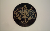 BRAVE RIFLES 2 1/2 DIAMETER TAN ON MAGIC BLACK