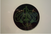BRAVE RIFLES 2 1/2 DIAMETER OD GREEN ON MAGIC BLACK