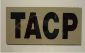 TACP 4 1/4 X 2 1/8 MAGIC BLACK ON TAN