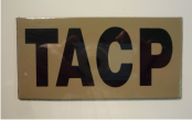 TACP 4 1/4 X 2 1/8 MAGIC BLACK ON OLD TAN