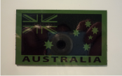 AUSTRALIA MAGIC BLACK ON OD GREEN