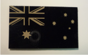 AUSTRALIA 3 1/2 X 2 TAN ON MAGIC BLACK