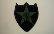 2ND INFANTRY 3 1/2 X 4 1/4 IR OD GREEN ON MAGIC BLACK