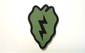 25TH INFANTRY 2 X 3 MAGIC BLACK ON OD GREEN