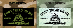DONT TREAD ON ME GREEN ON MB NIGHT VISION