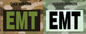 EMT GREEN ON MAGIC BLACK NIGHT VISION