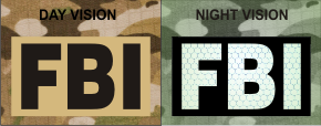 FBI MAGIC BLACK ON TAN NIGHT VISION