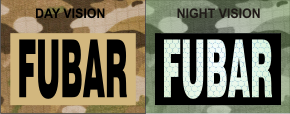 FUBAR MAGIC BLACK ON TAN NIGHT VISION