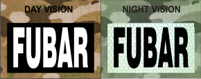 FUBAR WHITE ON MAGIC BLACK NIGHT VISION