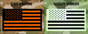 FORWARD USA FLAG PATCH ORANGE ON IR MAGIC BLACK