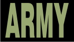 ARMY GREEN ON BLACK PCX PATCH