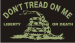 DONT TREAD ON ME GREEN ON BLACK PCX PATCH