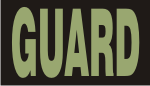 GUARD GREEN ON BLACK PCX PATCH