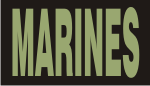MARINES GREEN ON BLACK PCX PATCH