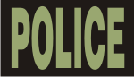 POLICE GREEN ON BLACK PCX PATCH