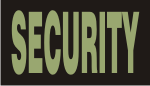 SECURITY GREEN ON BLACK PCX PATCH