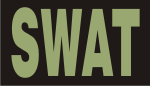 SWAT GREEN ON BLACK PCX PATCH