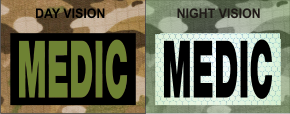 MEDIC GREEN ON MAGIC BLACK NIGHT VISION