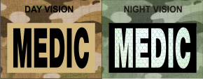 MEDIC MAGIC BLACK ON TAN NIGHT VISION