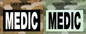 MEDIC WHITE ON MAGIC BLACK NIGHT VISION