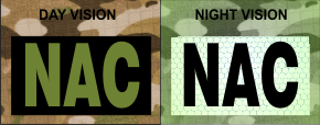 NAC IR PATCH OD GREEN ON IR MAGIC BLACK