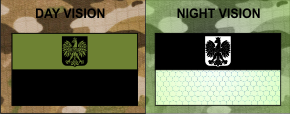 POLAND FLAG OD GREEN PLUS IR MAGIC BLACK SOLAS PATCH