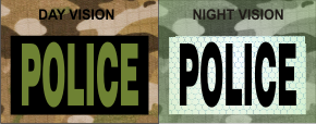 POLICE GREEN ON MAGIC BLACK NIGHT VISION