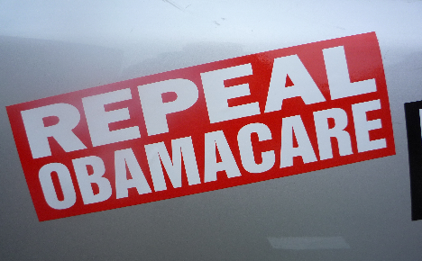 repeal obamacare bumper sticker red