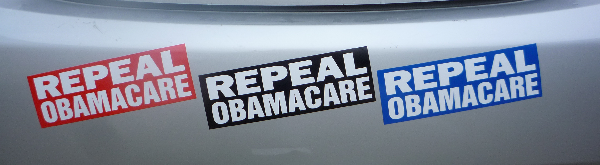 repeal obamacare bumper sticker all colors