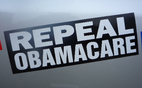 repeal obamacare bumper sticker black