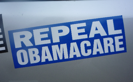repeal obamacare bumper sticker blue