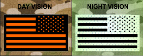 REVERSE USA ORANGE ON IR MAGIC BLACK SOLASX PATCH