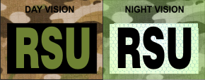 RSU IR PATCH OD GREEN ON BLACK
