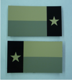 SET IR SOLAS TEXAS FLAG PATCHES