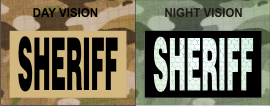 SHERIFF MAGIC BLACK ON TAN NIGHT VISION